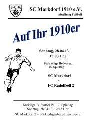 Stadionzeitschrift 28.04.2013 -- SCM I - FC Radolfzell 2