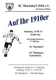 Stadionzeitschrift 11.05.2013 -- SCM I - FC Öhningen-Gaienhofen