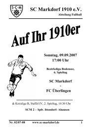 Auf Ihr 1910er - SC Markdorf 1910 eV