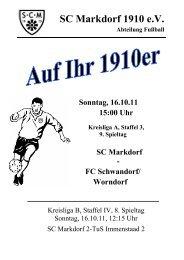 Stadionzeitschrift 16.10.2011 -- SCM I - FC Schwandorf/Worndorf