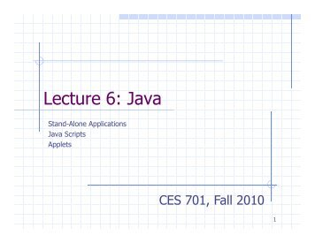 Lecture 6: Java