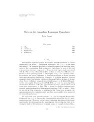 Notes on the Generalized Ramanujan Conjectures - Department of ...