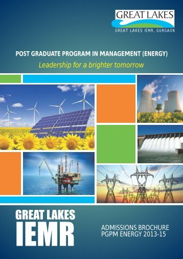 pgpm (energy) - Great Lakes Institute of Management