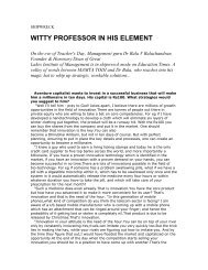 WITTY PROFESSOR IN HIS ELEMENT - Great Lakes
