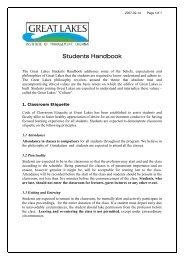 Students Handbook - Great Lakes