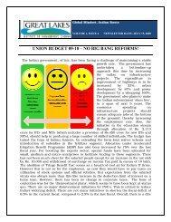 UNION BUDGET 09-10 – NO BIG BANG REFORMS! - Great Lakes