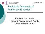 Radiologic Diagnosis of Pulmonary Embolism