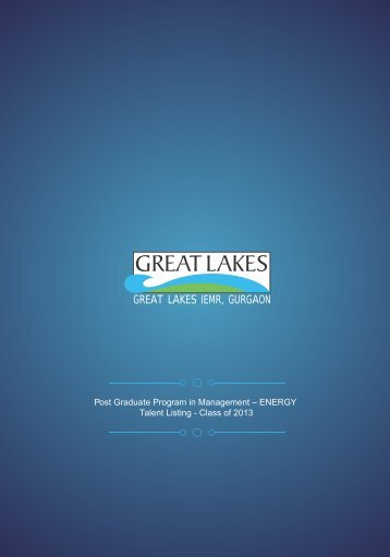 PGPM (Energy) - Great Lakes