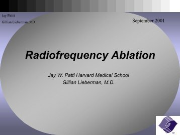 Radiofrequency Ablation - Lieberman's eRadiology Learning Sites