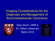 Imaging Considerations for the Diagnosis and Management of ...
