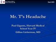 Mr. T's Headache - Lieberman's eRadiology Learning Sites