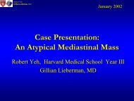 Case Presentation: An Atypical Mediastinal Mass