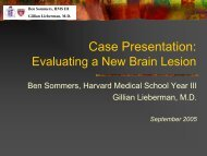 Case Presentation: Evaluating a New Brain Lesion