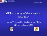 MRI Anatomy of the Knee and Shoulder - Lieberman's eRadiology ...