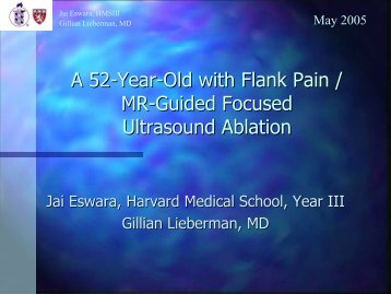 A52-Year-Old with Renal Mass / MR-Guided Focused Ultrasound
