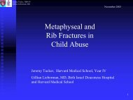 Metaphyseal and Rib Fractures in Child Abuse