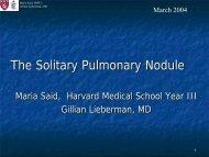 The Solitary Pulmonary Nodule