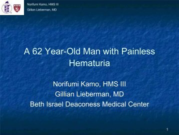 A 62 Year-Old Man with Painless Hematuria