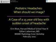 Radiographic Approach to Headache in Pediatrics - Lieberman's ...