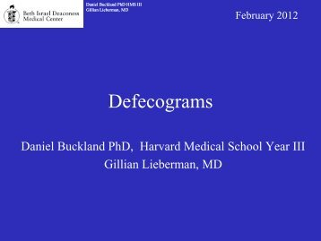 Defecograms - Lieberman's eRadiology Learning Sites