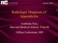 Radiologic Diagnosis of Appendicitis
