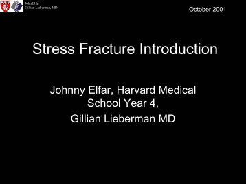 Stress Fracture Introduction