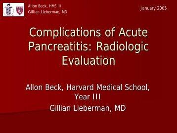 Radiologic Evaluation