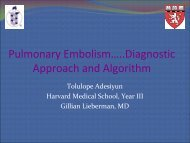 Pulmonary Embolism: Diagnostic Approach and Algorithm