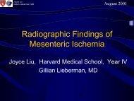 Radiographic Findings of Mesenteric Ischemia