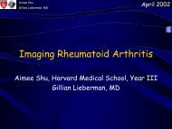Imaging Rheumatoid Arthritis - Lieberman's eRadiology Learning Sites