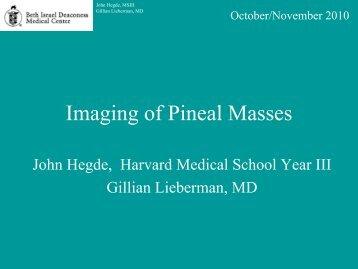 Imaging of Pineal Masses