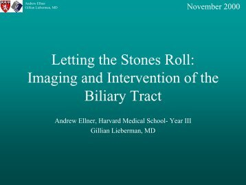 Imaging and Intervention of the Biliary Tract - Lieberman's ...