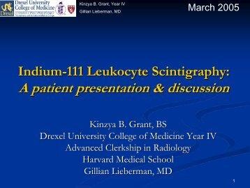 Indium-111 Leukocyte Scintigraphy - Lieberman's eRadiology ...