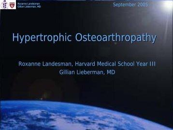 Hypertrophic Osteoarthropathy - Lieberman's eRadiology Learning ...