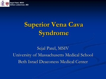 Superior Vena Cava Syndrome