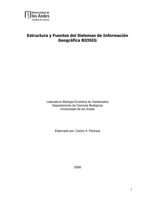 Estructura Y Fuentes Sistemas De Información Geográfica