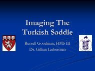 Imaging The Turkish Saddle - Lieberman's eRadiology Learning Sites