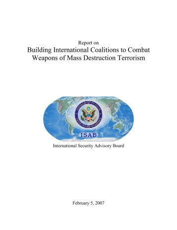 Building International Coalitions to Combat Weapons of Mass ...