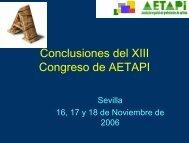 Conclusiones del XIII Congreso de AETAPI