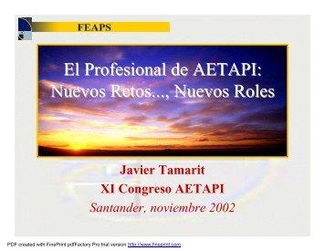 El Profesional de AETAPI: Nuevos Retos..., Nuevos Roles