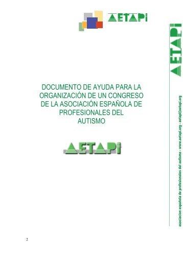 documento de ayuda para la organización de un congreso ... - Aetapi