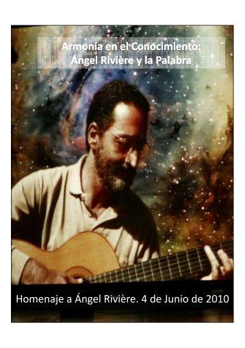 Homenaje a Ángel Rivière - Aetapi