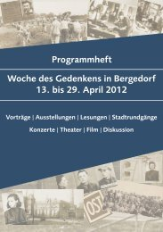 Woche des Gedenkens in Bergedorf 13. bis 29. April 2012 ...