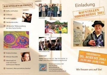 Flyer Sommerfest Baustelle_RZ.indd - Fördern und Wohnen