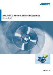 ANDRITZ Mittelkonsistenzpumpe Serie MC