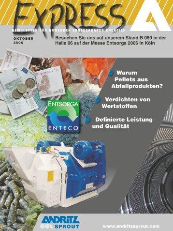 Warum Pellets aus Abfallprodukten? Verdichten von Wertstoffen ...