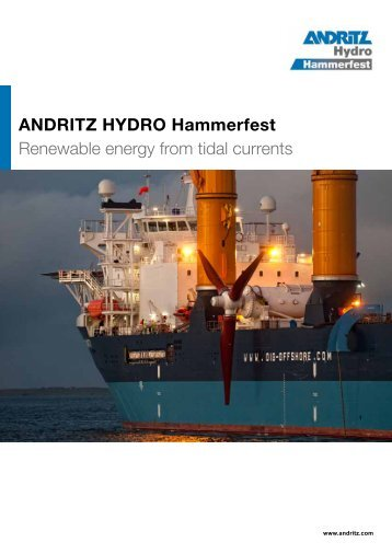 ANDRITZ HYDRO Hammerfest Renewable energy from tidal currents
