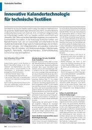 Innovative Kalandertechnologie für technische Textilien