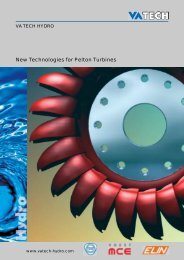 New Technologies for Pelton Turbines