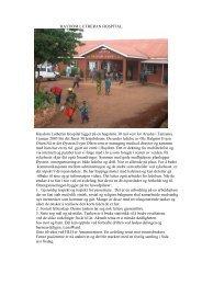 Rapport fra Haydom 30. desember 2008 av PO